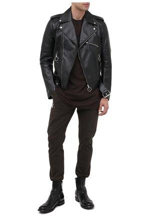 Мужские кожаные сапоги OFFICINE CREATIVE черного цвета, арт. BALANCE/007/AER0 BUFAL0 | Фото 2