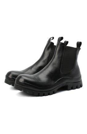Мужские кожаные челси OFFICINE CREATIVE черного цвета, арт. CLEANTREK/001/FI0RE LUX | Фото 1