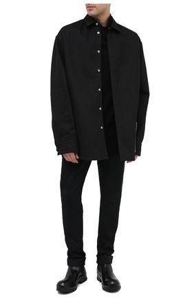 Мужские кожаные челси OFFICINE CREATIVE черного цвета, арт. CLEANTREK/001/FI0RE LUX | Фото 2