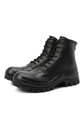 Мужские кожаные ботинки OFFICINE CREATIVE черного цвета, арт. CLEANTREK/002/FI0RE LUX | Фото 1