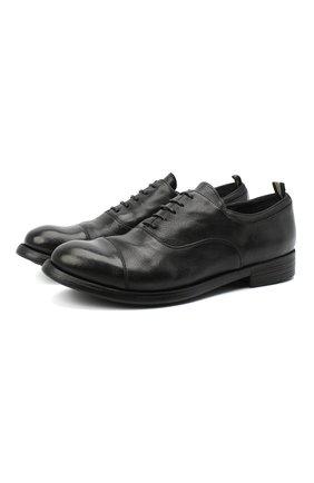 Мужские кожаные оксфорды OFFICINE CREATIVE черного цвета, арт. HIVE/004/IGNIS T. | Фото 1