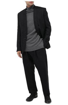 Мужские замшевые сапоги OFFICINE CREATIVE черного цвета, арт. HIVE/009/ANTARES | Фото 2