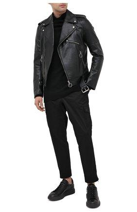 Мужские кожаные кеды OFFICINE CREATIVE черного цвета, арт. KRACE/008/FRIDA/DEV0N | Фото 2
