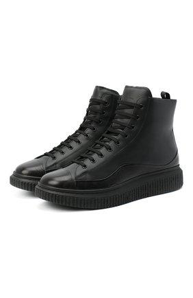 Мужские кожаные ботинки OFFICINE CREATIVE черного цвета, арт. KRACE/009/FRIDA/DEV0N | Фото 1
