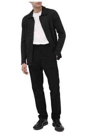 Мужской кожаные дерби OFFICINE CREATIVE черного цвета, арт. LYD0N/001/M0UNTAIN | Фото 2