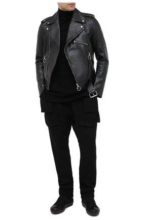 Мужские комбинированные кеды OFFICINE CREATIVE черного цвета, арт. MES/004/FRIDA/0LIVER/GIAN0 DIRTY | Фото 2