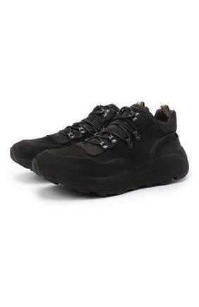 Мужские замшевые кроссовки OFFICINE CREATIVE черного цвета, арт. SPHYKE/014/0XIDE | Фото 1