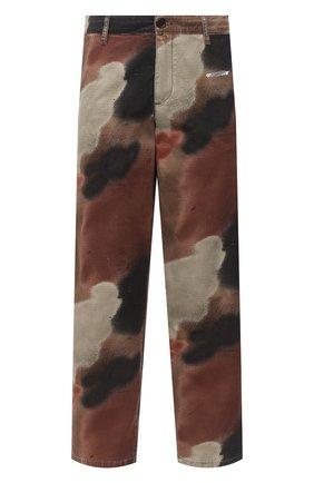 Мужские хлопковые брюки OFF-WHITE хаки цвета, арт. 0MCA138E20FAB0016001 | Фото 1 (Длина (брюки, джинсы): Стандартные; Материал внешний: Хлопок; Стили: Милитари; Случай: Повседневный)