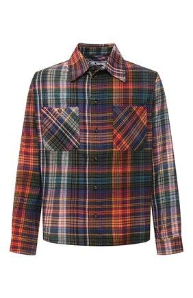 Мужская хлопковая рубашка OFF-WHITE разноцветного цвета, арт. 0MGA133E20FAB0012010 | Фото 1