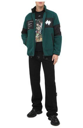 Мужская куртка OFF-WHITE зеленого цвета, арт. 0MKI015E20FAB0015701 | Фото 2