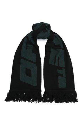 Мужской шарф OFF-WHITE зеленого цвета, арт. 0MMA001E20KNI0031057 | Фото 1