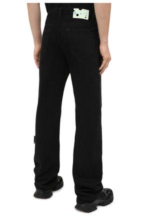 Мужские джинсы OFF-WHITE черного цвета, арт. 0MYA078E20DEN0031001 | Фото 5 (Силуэт М (брюки): Широкие; Кросс-КТ: Деним; Длина (брюки, джинсы): Стандартные; Стили: Гранж; Материал внешний: Хлопок)