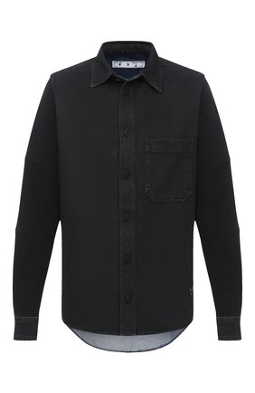 Мужская джинсовая рубашка OFF-WHITE черного цвета, арт. 0MYD020E20DEN0011049 | Фото 1
