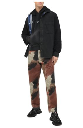 Мужская джинсовая рубашка OFF-WHITE черного цвета, арт. 0MYD020E20DEN0011049 | Фото 2