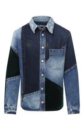 Мужская джинсовая рубашка OFF-WHITE синего цвета, арт. 0MYE059E20DEN0014557 | Фото 1