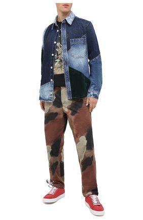 Мужская джинсовая рубашка OFF-WHITE синего цвета, арт. 0MYE059E20DEN0014557 | Фото 2