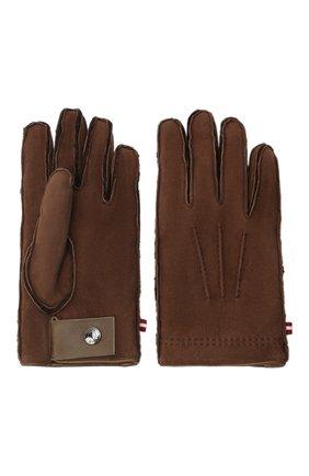 Мужские замшевые перчатки BALLY коричневого цвета, арт. M9P0031L-4S034/577 | Фото 2