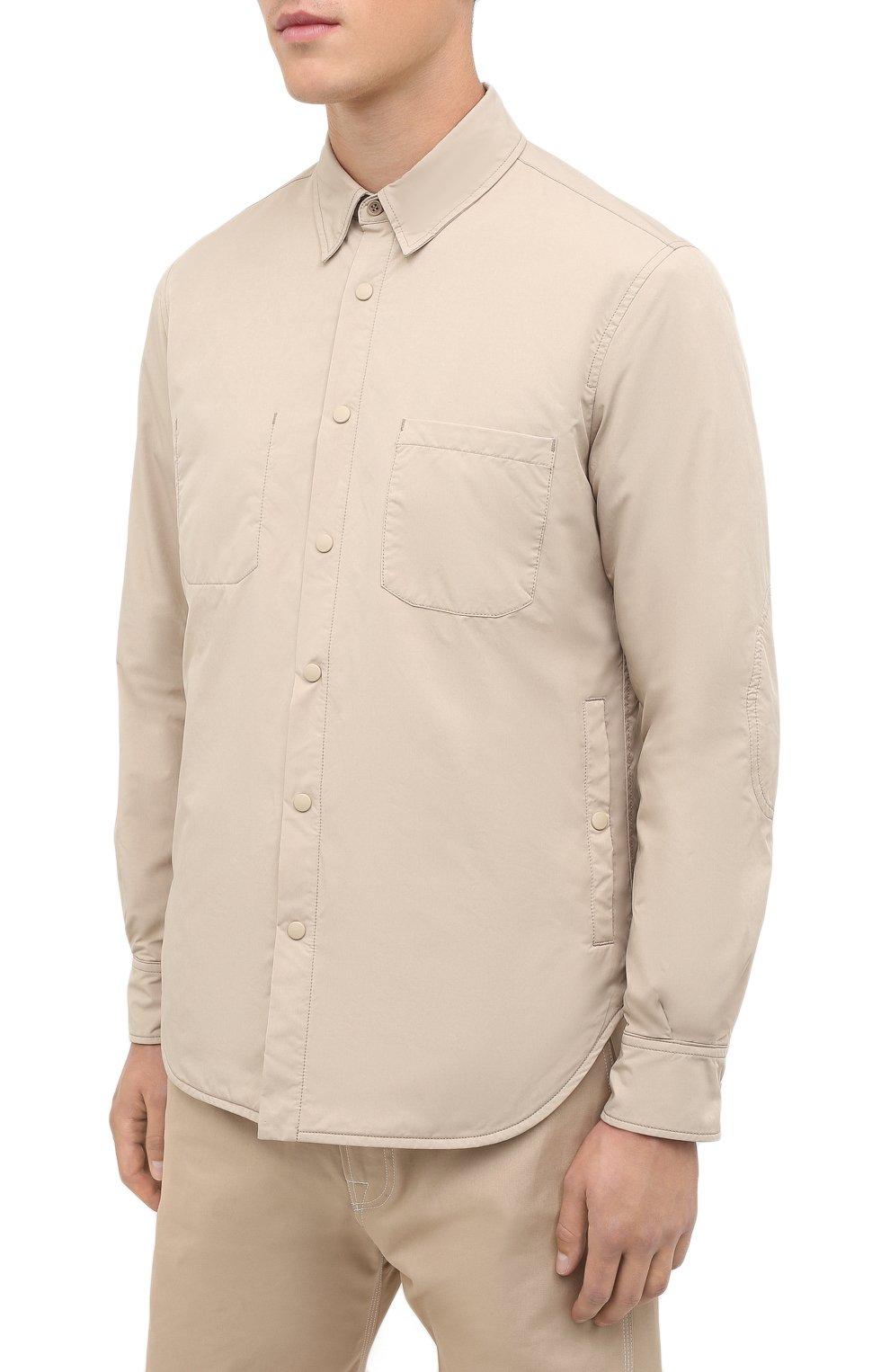 Мужская куртка-рубашка ASPESI бежевого цвета, арт. W0 I 7I29 9972 | Фото 3
