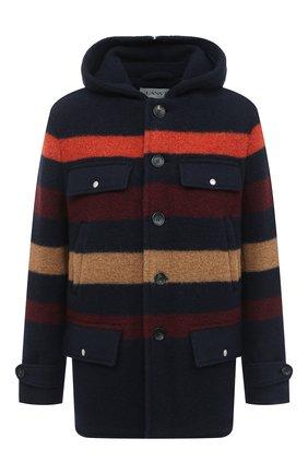 Мужской шерстяное пальто LANVIN темно-синего цвета, арт. RM-0U0001-4577-A20 | Фото 1