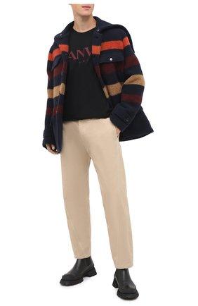 Мужской шерстяное пальто LANVIN темно-синего цвета, арт. RM-0U0001-4577-A20 | Фото 2