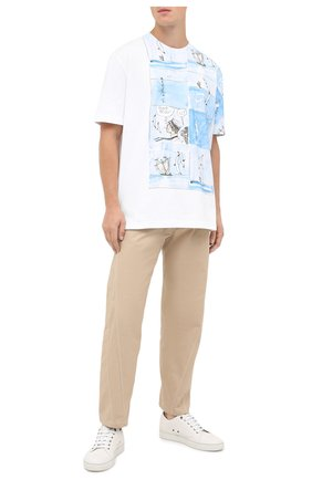Мужская хлопковая футболка LANVIN белого цвета, арт. RM-JE0046-JR15-H20   Фото 2