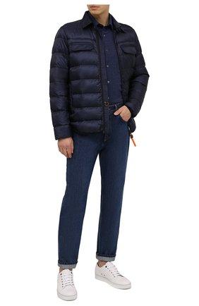 Мужская пуховая куртка ASPESI темно-синего цвета, арт. W0 I 0I05 L524 | Фото 2