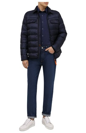 Мужская хлопковая рубашка ASPESI синего цвета, арт. W0 A CE36 L534 | Фото 2