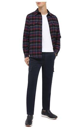 Мужской хлопковые брюки-карго ASPESI темно-синего цвета, арт. W0 A CP31 A263 | Фото 2