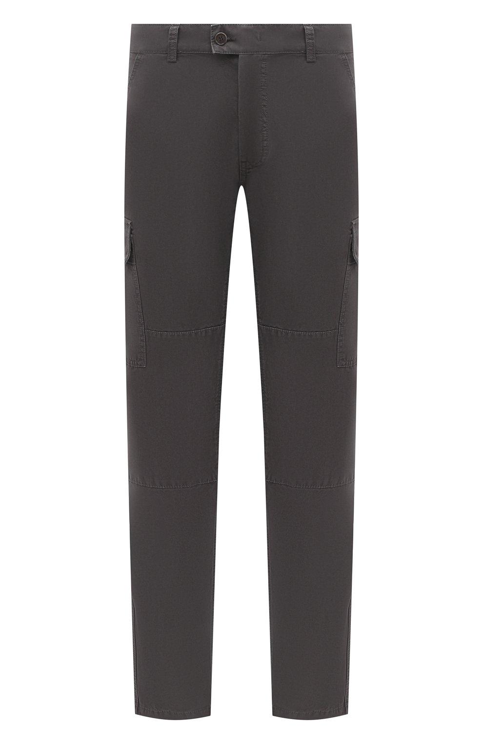 Мужские хлопковые брюки-карго ASPESI серого цвета, арт. W0 A CP31 A263   Фото 1 (Силуэт М (брюки): Карго; Длина (брюки, джинсы): Стандартные; Случай: Повседневный; Материал внешний: Хлопок; Стили: Кэжуэл)