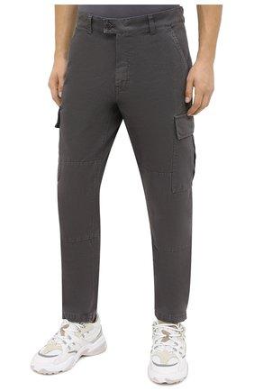 Мужские хлопковые брюки-карго ASPESI серого цвета, арт. W0 A CP31 A263   Фото 3 (Силуэт М (брюки): Карго; Длина (брюки, джинсы): Стандартные; Случай: Повседневный; Материал внешний: Хлопок; Стили: Кэжуэл)