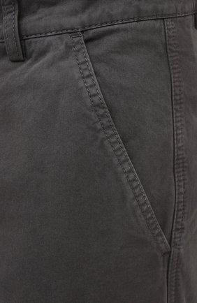 Мужские хлопковые брюки-карго ASPESI серого цвета, арт. W0 A CP31 A263   Фото 5 (Силуэт М (брюки): Карго; Длина (брюки, джинсы): Стандартные; Случай: Повседневный; Материал внешний: Хлопок; Стили: Кэжуэл)