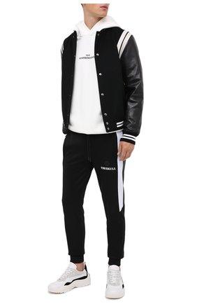 Мужской хлопковые джоггеры PHILIPP PLEIN черного цвета, арт. F20C MJT1647 PJO002N | Фото 2