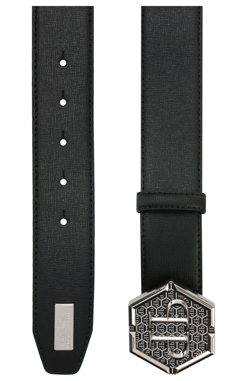 Мужской кожаный ремень PHILIPP PLEIN черного цвета, арт. F20A MVA0598 PLE004N | Фото 2