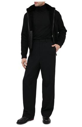 Мужская дубленка EMPORIO ARMANI черного цвета, арт. 91B16P/91P20 | Фото 2