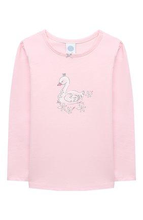 Детская хлопковая пижама SANETTA светло-розового цвета, арт. 232488 | Фото 2