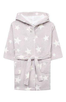 Детский хлопковый халат SANETTA светло-серого цвета, арт. 243903 | Фото 1