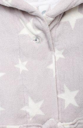 Детский хлопковый халат SANETTA светло-серого цвета, арт. 243903 | Фото 3