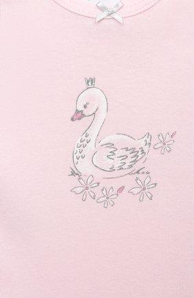 Детская хлопковая майка SANETTA светло-розового цвета, арт. 334907 | Фото 3