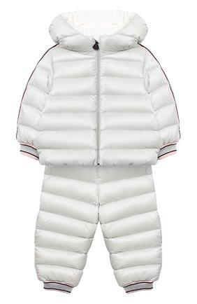 Детского комплект из куртки и брюк MONCLER светло-серого цвета, арт. F2-951-1F503-10-53048 | Фото 1