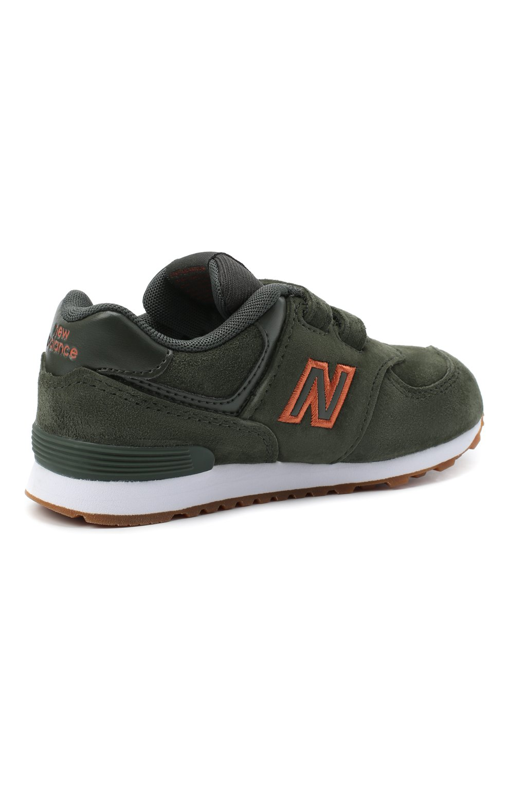 Детские кроссовки 574 NEW BALANCE темно-зеленого цвета, арт. IV574PGO/M | Фото 3 (Стили: Гранж)