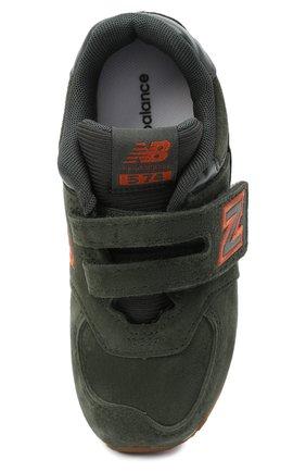 Детские кроссовки 574 NEW BALANCE темно-зеленого цвета, арт. IV574PGO/M | Фото 4 (Стили: Гранж)