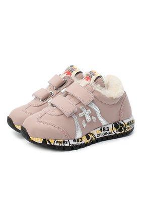 Детские кожаные кроссовки PREMIATA WILL BE розового цвета, арт. LUCY V-M/11-21311-M/T0D | Фото 1