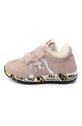 Детские кожаные кроссовки PREMIATA WILL BE розового цвета, арт. LUCY V-M/11-21311-M/T0D | Фото 2