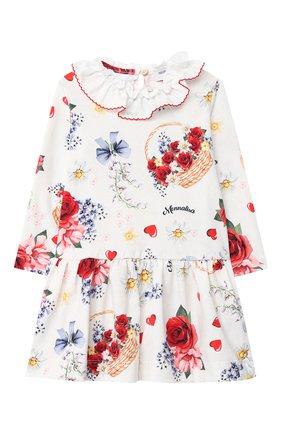 Женский платье MONNALISA белого цвета, арт. 316915 | Фото 1