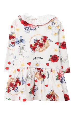 Женский платье MONNALISA белого цвета, арт. 316915 | Фото 2