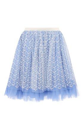 Детская юбка GUCCI голубого цвета, арт. 629155/ZAE02 | Фото 1