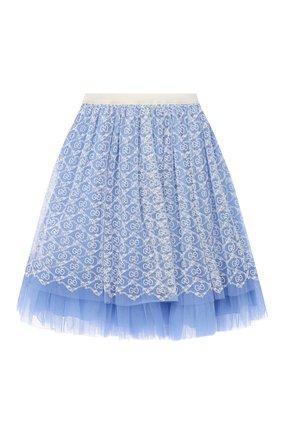 Детская юбка GUCCI голубого цвета, арт. 629155/ZAE02 | Фото 2