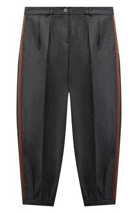 Детские шерстяные брюки GUCCI серого цвета, арт. 629508/XWALN | Фото 1