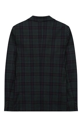 Детский шерстяной пиджак DAL LAGO темно-синего цвета, арт. N048FQ/8921/13-16 | Фото 2