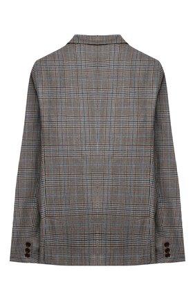 Детский шерстяной пиджак DAL LAGO коричневого цвета, арт. N085Q/8920/13-16 | Фото 2